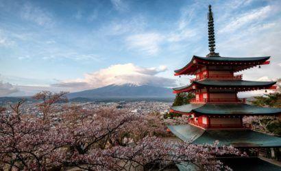 Chureito Pagoda overlooking Mt Fuji