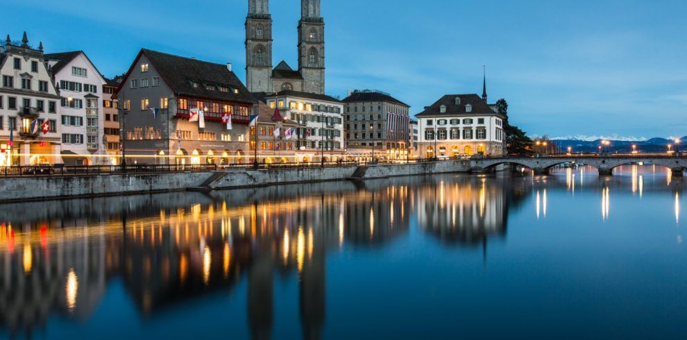 Zurich cityscape - nightshot
